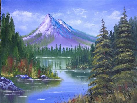 bob ross painting easy mountain landscape paintings beatiful landscape