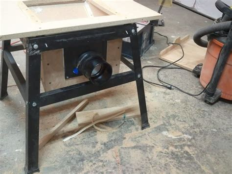 table saw dust collection ideas contractor table saw dust collection upgrade workbenches