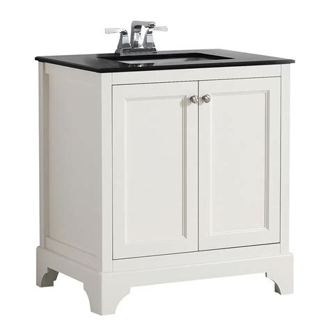 30 X 21 Bathroom Vanity by Shop Simpli Home Cambridge Soft White Undermount Single