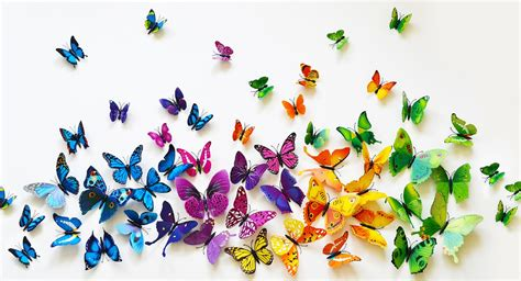 Butterfly Set great way to decorate set of 12 3d pvc