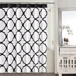 Black And White Shower Curtains Studio 3b Fret 72 Inch X 72 Inch Shower Curtain In Black White Bedbathandbeyond