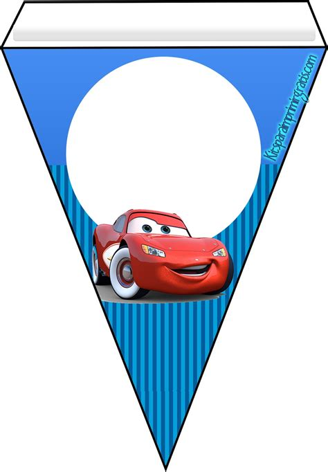 banderines de rayo mcqueen kit imprimible de cars 3 para descargar gratis kits para
