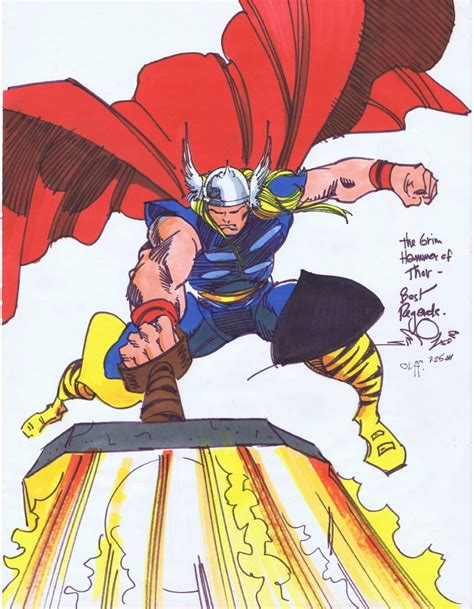 thor by walt simonson 1302908871 vintage early 80 s walt simonson full figure thor sketch in malvin v s pinups and con