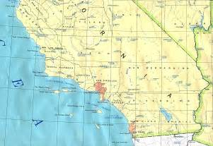 map of of california southern california base map