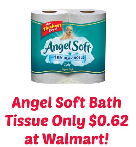 softest bathroom tissue angel soft bath tissue only 0 62 at walmart i don t