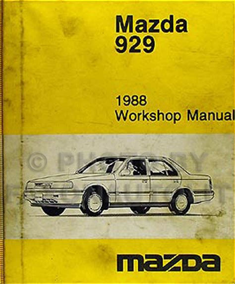 car repair manuals online free 1988 mazda 929 auto manual 1988 mazda 929 wiring diagram manual original