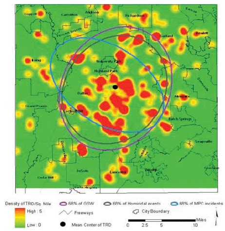 spatial pattern analysis gis spatial analysis of injury related deaths in dallas county