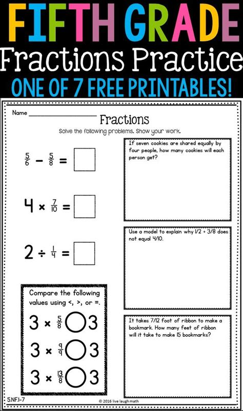 printable daily quiz 2017 best images about fractions decimals percents on