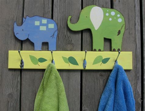 kids bathroom towel hooks safari animals bathroom towel hook rack pottery barn