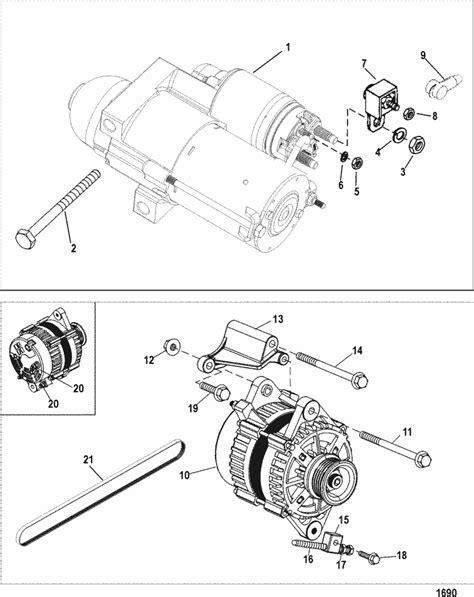 MerCruiser 496 Mag (H.O. Model) Starter & Alternator Parts