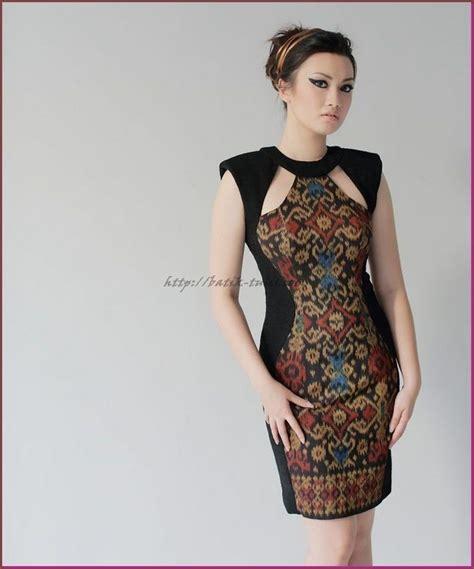 Dress Tenun Ntt Kombinasi model baju batik untuk kerja yang modis batik tulis with