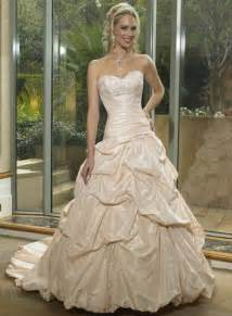 champagne colored wedding gown sang maestro