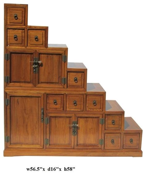 Step Cabinet by Japanese Style Step Tansu Cabinet