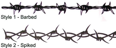 barbed wire tattoo styles