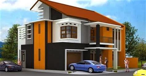 kombinasi warna cat tembok orange  indah cantik
