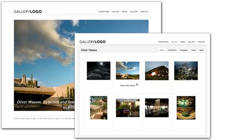 gallery html template gallery website collection website artist
