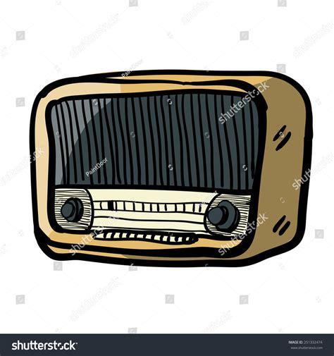 sketchbook radio vintage radiochildrens sketch radio color stock