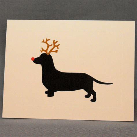 holiday dachshund christmas card single greeting card