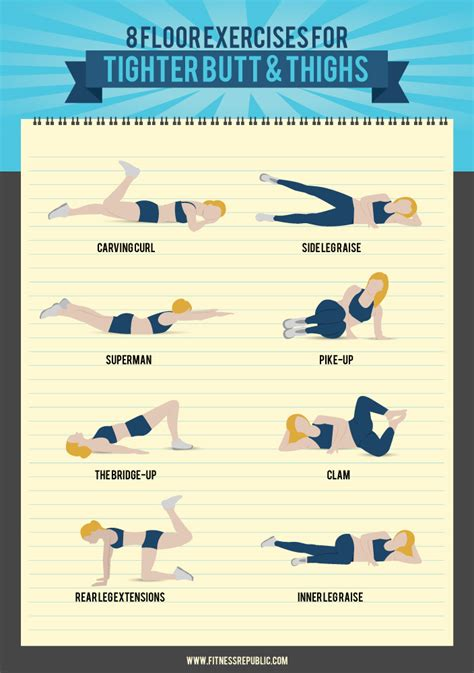 Floor Workouts 8 floor exercises for a tight and toned thighs
