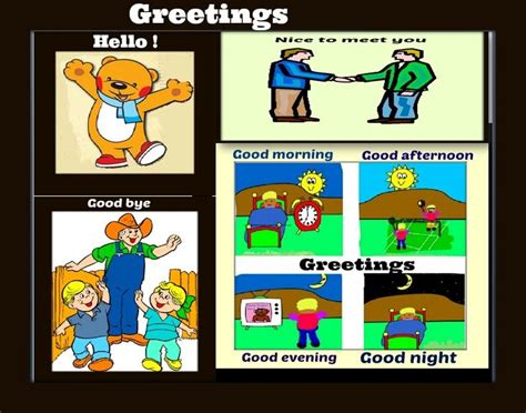 imagenes en ingles good bye some greetings ideas para las clases de ingl 233 s de