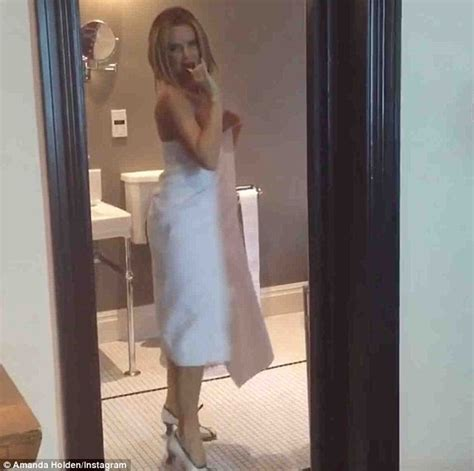 with wife in bathroom britain s got talent s amanda holden shows off her dancing