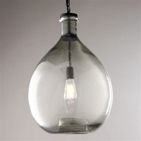 glass jug pendant light oversized glass jug pendant shades of light
