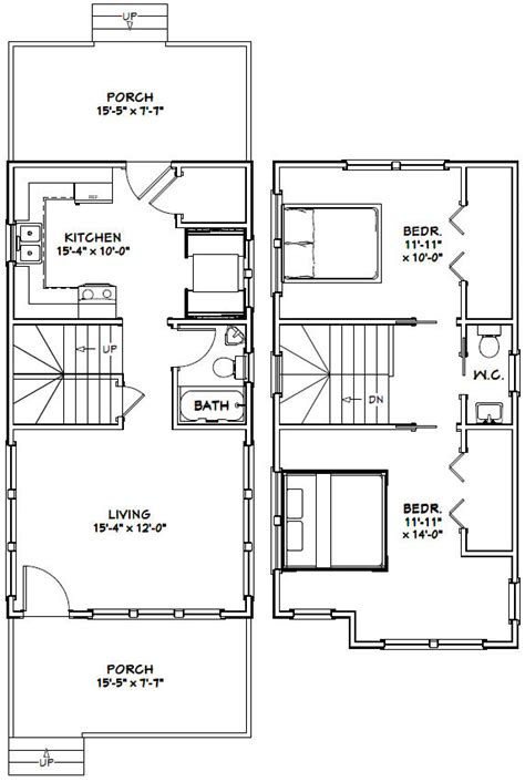 excellent floor plans 16x30 house 16x30h11 901 sq ft excellent floor plans