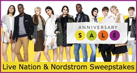Nordstrom Sweepstakes - live nation and nordstrom anniversary sale sweepstakes