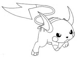raichu fighting pose coloring page color luna