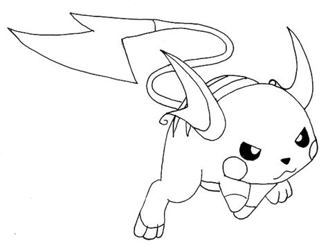 raichu coloring page free coloring pages of raichu