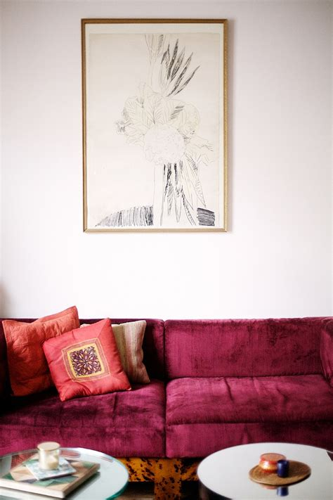 wine colored sofa pink sofas feng shui color interior design inspiration