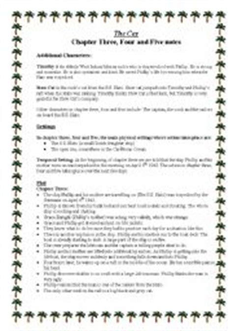 The Cay Vocabulary Worksheets by Worksheets The Cay Chapter 3 4 And 5 Notes