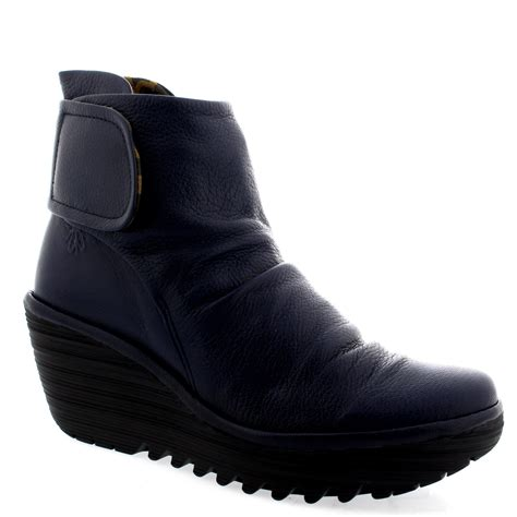 fly yegi low heel shoes winter wedge casual