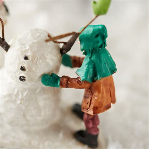 miniature build a snowman christmas figurine christmas
