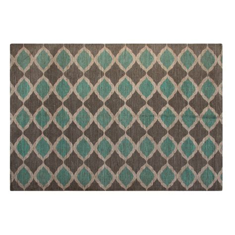 Turquoise Outdoor Rugs Chesapeake Printed Turquoise And Taupe Matrix Geometric Outdoor Area Rug Reviews Wayfair