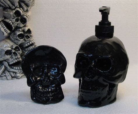gold black and skulls for your bathroom this
