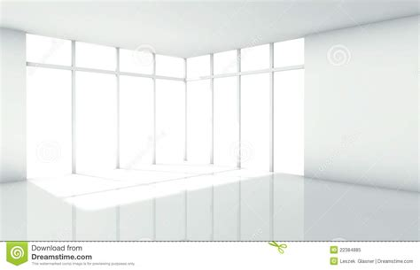 3d Modern Architecture Interior With Window Royalty Free