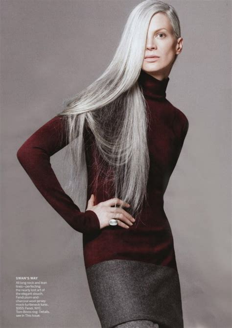 gray hair models cover of the day kristen mcmenamy grey hair is vogue s