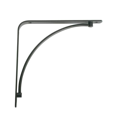 decorative shelf brackets home depot knape vogt manchester 5 75 in l x 0 75 in w black 50