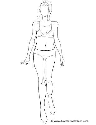 female fashion croquis templates figure tattoo