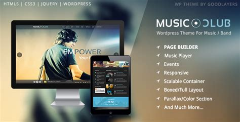 themes wordpress music band plantillas wordpress music club music band club party
