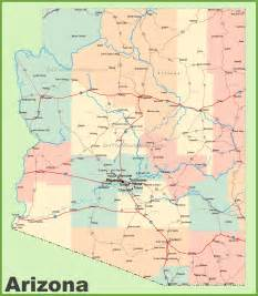 show me a map of arizona arizona road map with cities and towns