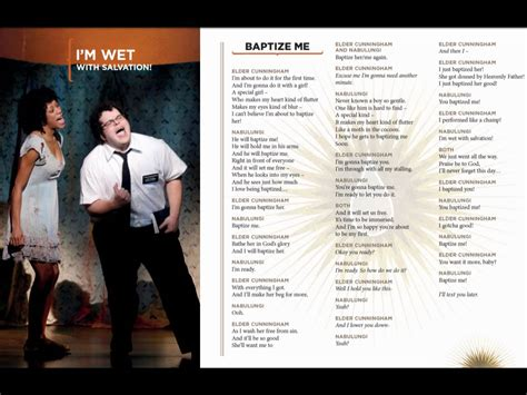 baptize me book of mormon baptize me lyrics