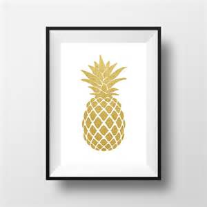 Pineapple Wall Decor by Pineapple Wall Gold Pineapple Print Gold Print Gold