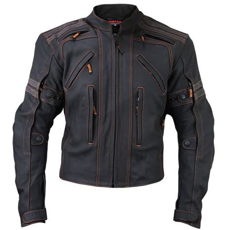 men s bike jackets mens black vulcan vtz 910 street racer premium leather