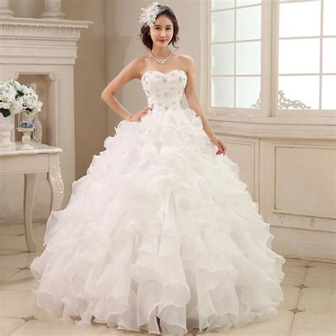 White Wedding Dresses by Beautiful Strapless White Wedding Dresses With Diamonds
