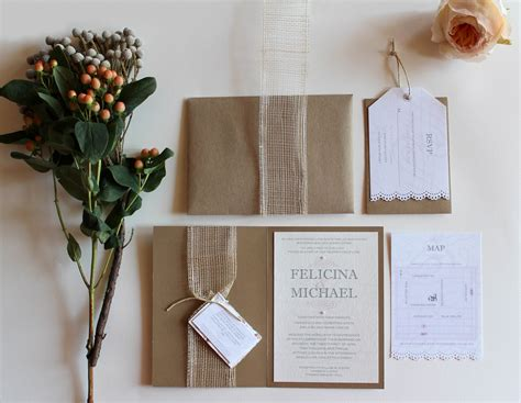 Chic Wedding Invitations by Rustic Chic Wedding Invitation