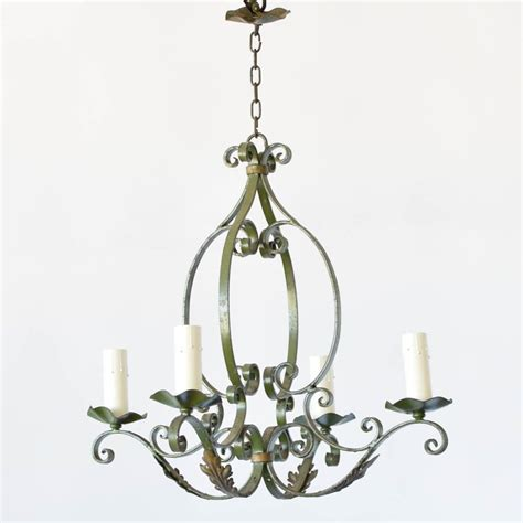 Green French Iron Chandelier The Big Chandelier Green Chandeliers