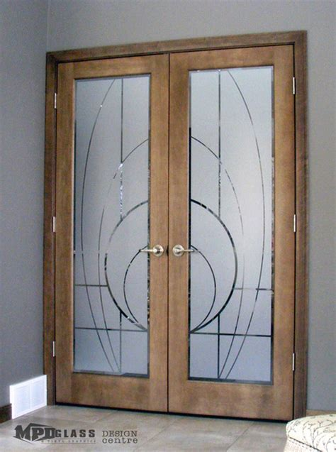 Decorative Interior Glass Doors Decorative Door Designs Modern Interior Doors Other Metro By Mpd Glass Vinyl Graphics