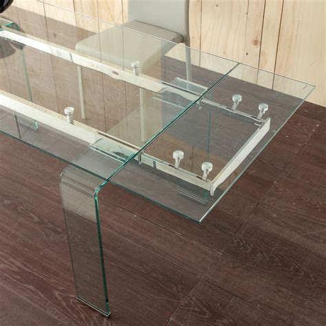 extendable glass top dining table modern extendable dining table lord with tempered glass top